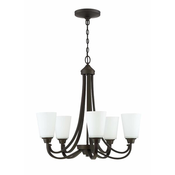 Colfax 5-Light Shaded Chandelier by Alcott Hill