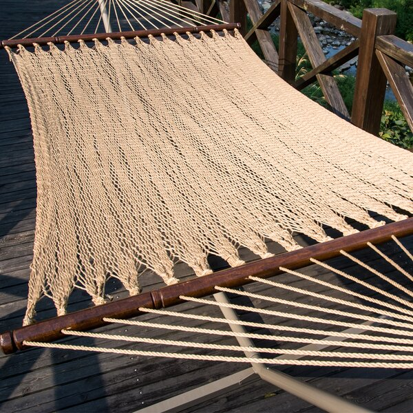 Two Point Tight Weave Caribbean Polyester Hammock by Prime Garden