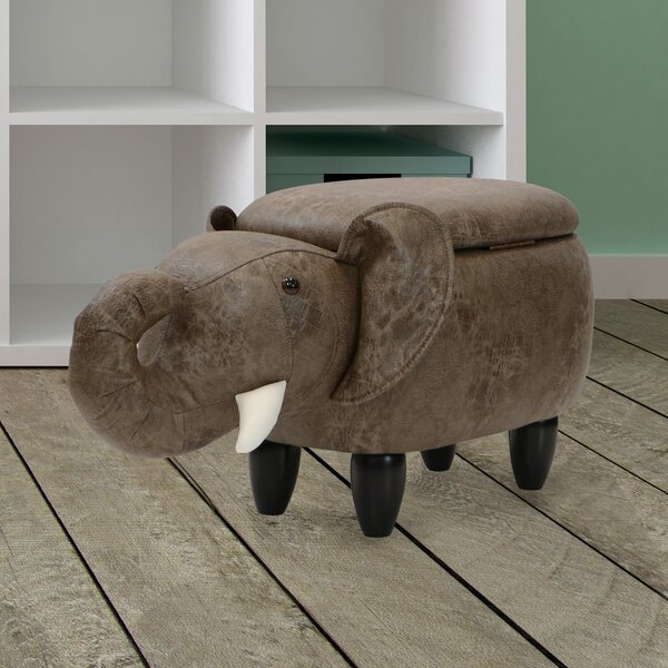 Critter Sitters Elephant Storage Ottoman By Zoomie Kids