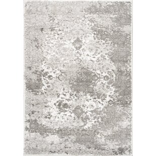 Buy clear Leila Distressed Gray/White Area Rug By Bungalow Rose
