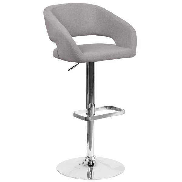 Grow Adjustable Height Swivel Bar Stool by Orren Ellis