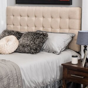 Pomfret Upholstered Panel Headboard by Three Posts