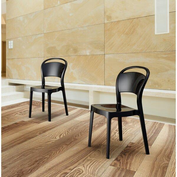 Amelio Stacking Patio Dining Chair (Set of 2) by Latitude Run Latitude Run