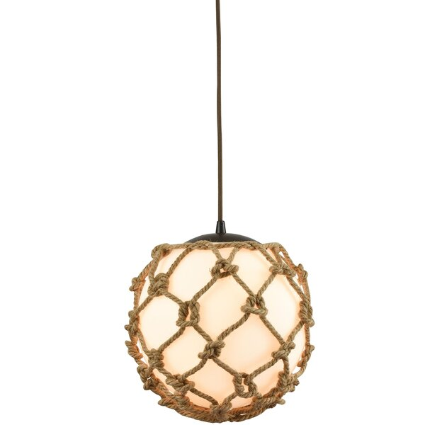 Bowdoin 1-Light Globe Pendant by Bay Isle Home