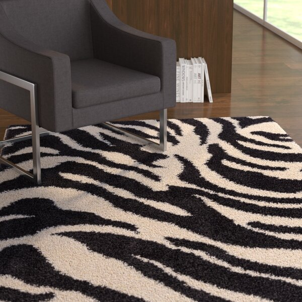 Dondre Black Indoor Area Rug by Ebern Designs