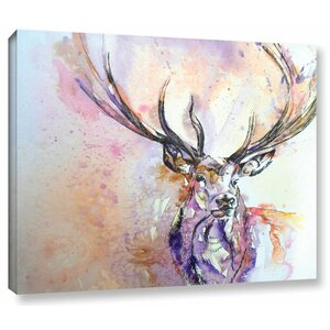 Stag 2 Painting Print on Wrapped Canvas by Latitude Run