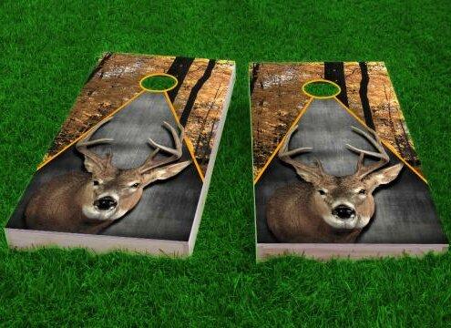 Deer Hunting Theme Cornhole Game (Set of 2) by Custom Cornhole Boards