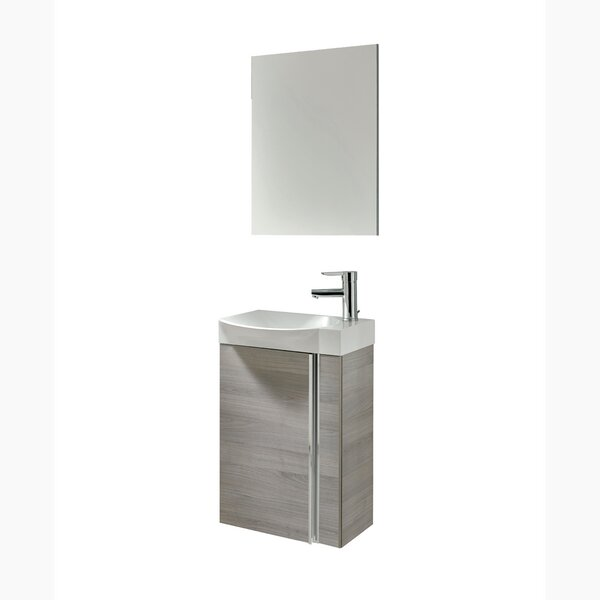 "kegley 18"" single bathroom vanity set with mirror & reviews 