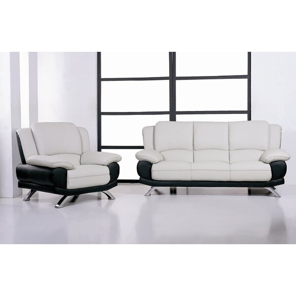 Caelyn Leather Configurable Living Room Set by Hokku Designs