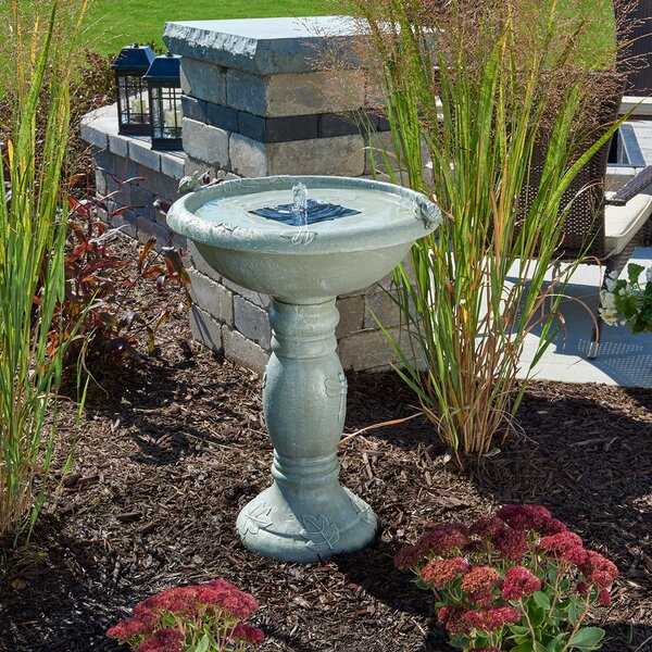 Solar Country Gardens Solar Birdbath by Smart Solar