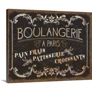 Parisian Signs Vintage Advertisement on Wrapped Canvas by Great Big Canvas