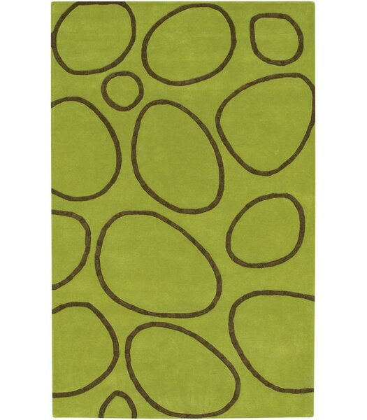 Jamestown Hand-Woven Green Area Rug by Threadbind