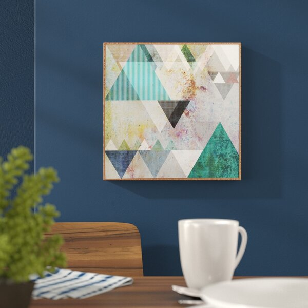 Graphic 3 Blue Framed Graphic Art by Mercury Row