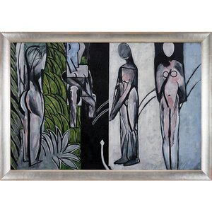 'Bathers by a River' by Henri Matisse Framed Oil Painting Print on Canvas by Brayden Studio