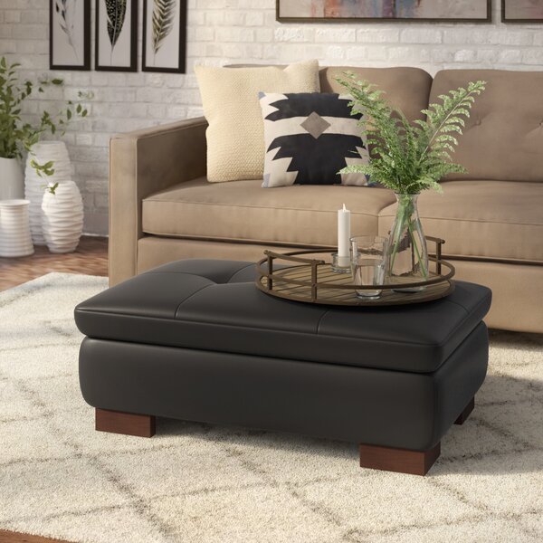 Wade Logan Leather Ottomans