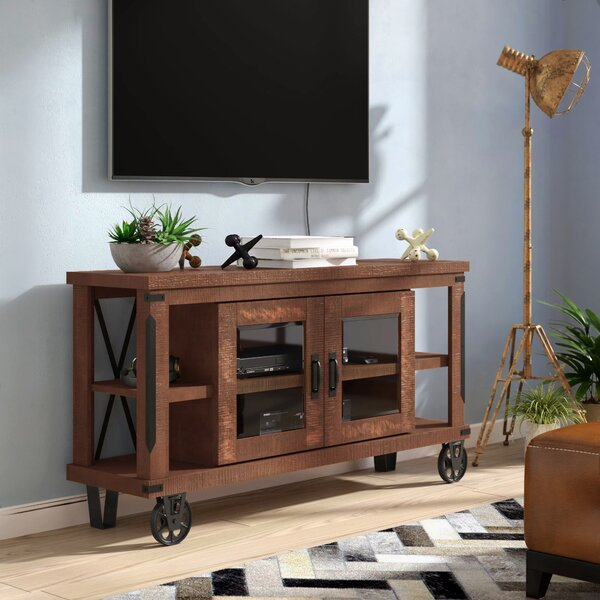 Leandra Solid Wood TV Stand For TVs Up To 75