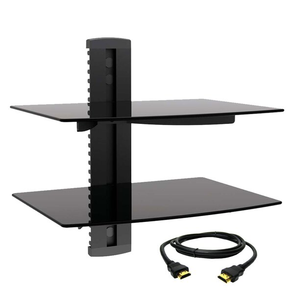 Tempered Glass Wall Mount for Plasma/LCD/LED Screens by MegaMounts