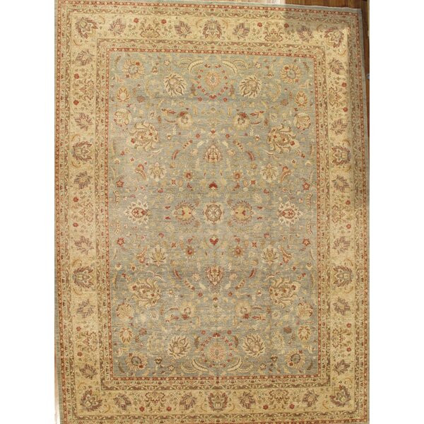 Ferehan Hand-Knotted Light Blue/Ivory Area Rug by Pasargad