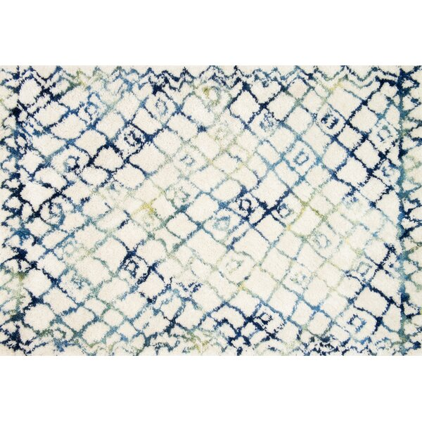 Benson Hand-Tufted Ivory/Ocean Area Rug by Foundry Select