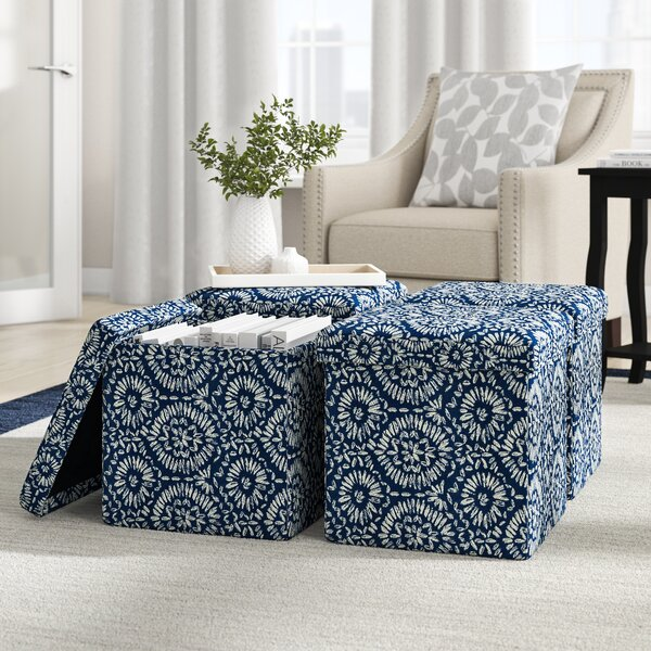 Rubinstein Storage Ottoman (Set of 4) by Winston Porter