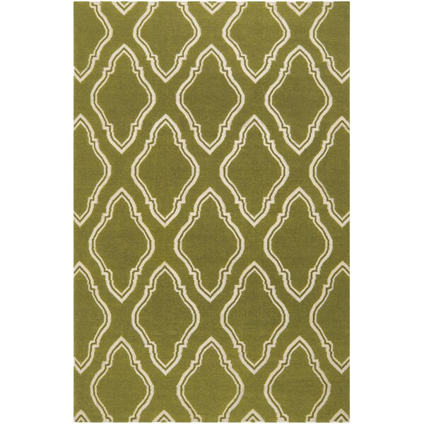 Findley Hand-Woven Olive Area Rug by Darby Home Co