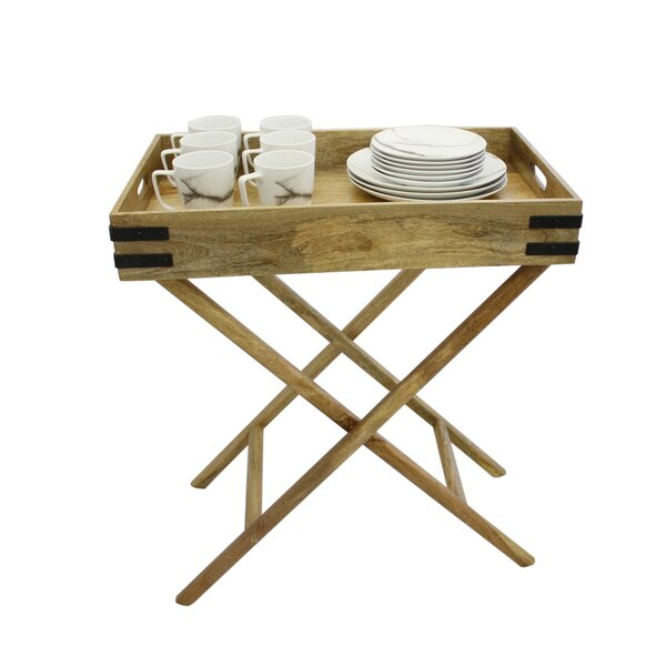 Nico Butler Tray Table by Gracie Oaks