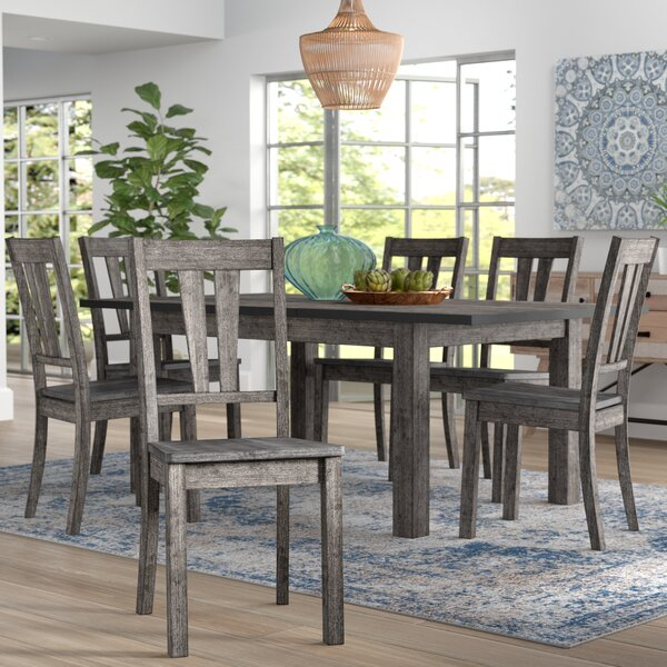 Katarina 7 Piece Extendable Solid Wood Dining Set by Mistana