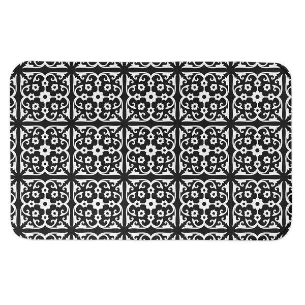 Kenosha Tile Rectangle Non-Slip Geometric Bath Rug