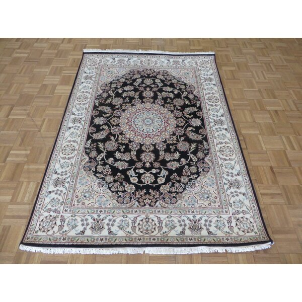 One-of-a-Kind Padro Nain Hand-Knotted Wool Navy Blue Area Rug by Bloomsbury Market