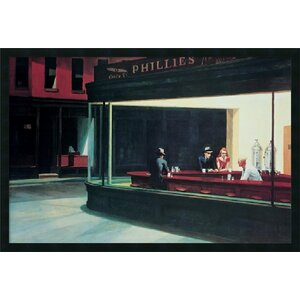 'Nighthawks' by Edward Hopper Framed Painting Print by Amanti Art