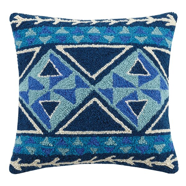 Diamond Kilim Wool Throw Pillow by Peking Handicraft