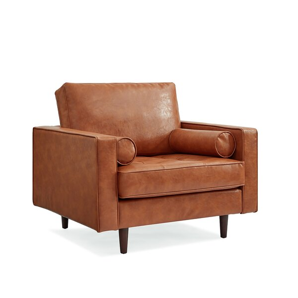 Bombay Genuine Leather 32.5-inch Armchair by Trent Austin Design Trent Austin Design