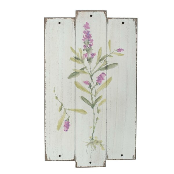Lavender Flower Plaque Wall Décor by August Grove