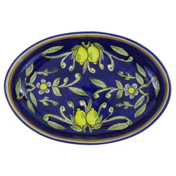 Citronique Poultry Platter by Le Souk Ceramique
