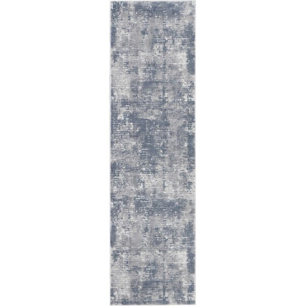 Comer Abstract Gray Area Rug by Williston Forge