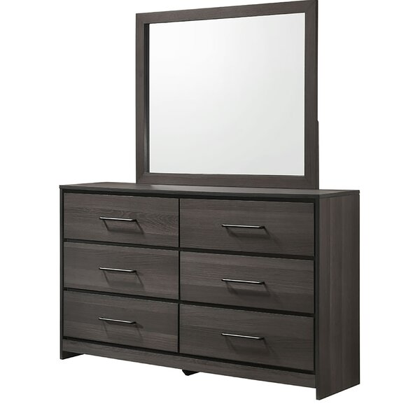 Sharma 6 Drawer Double Dresser With Mirror By Foundry Select by Foundry Select Find