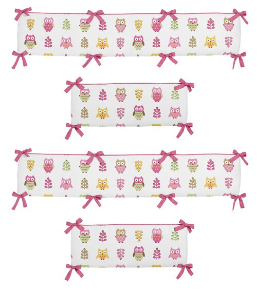 Happy Owl Crib Bumper by Sweet Jojo Designs