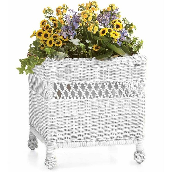 Easy Care Resin Square Wicker Planter Box by Plow & Hearth