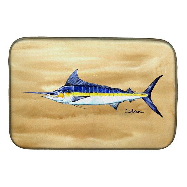 Swordfish on Sandy Beach Dish Drying Mat by Caroline's Treasures