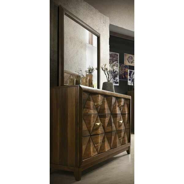 Fegan 6 Drawer Standard Dresser with Mirror by Brayden Studio