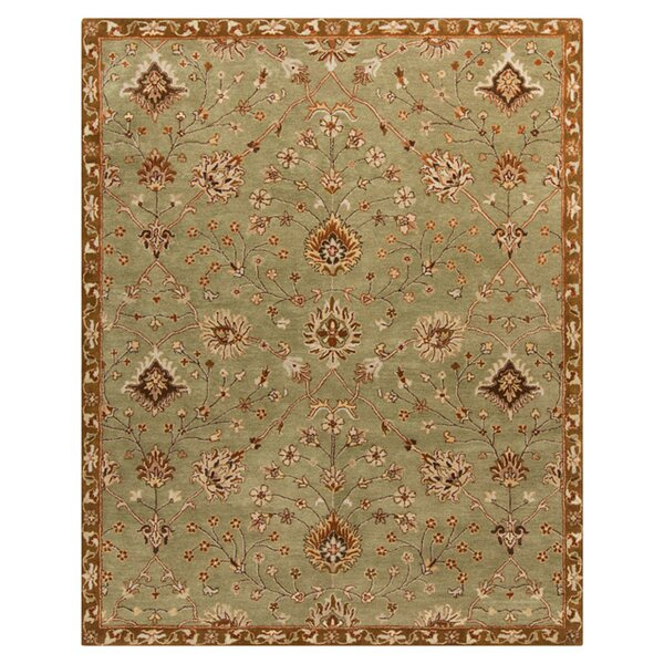 Queenswood Green Rug by Charlton Home