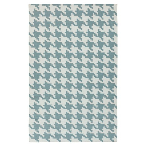 Atkins Ivory & Blue Accent Rug by Charlton Home
