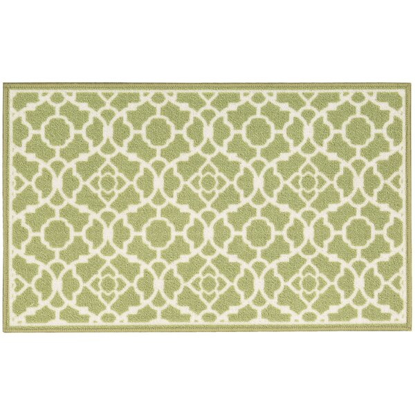 Fancy Free & Easy Lovely Lattice Green Area Rug by Waverly