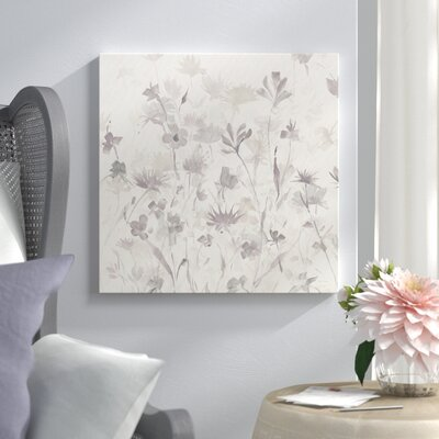 """'Garden Shadows IV' Painting Print on Canvas in Gray Lark Manor Size: 18"""" H x 18"""" W x 0.75"""" D"""