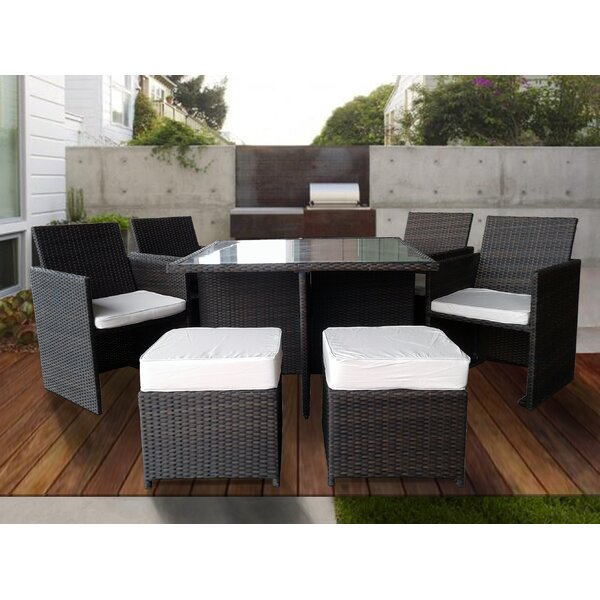 Galina 9 Piece Dining Set with Cushions by Ivy Bronx
