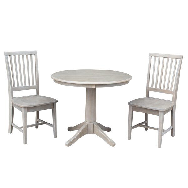 Sturtevant 3 Piece Solid Wood Dining Set By August Grove