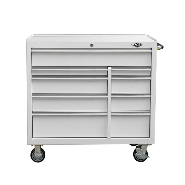 Premium Series 45 Wide 9 Drawer Bottom Rollaway Chest by Viper Tool Storage