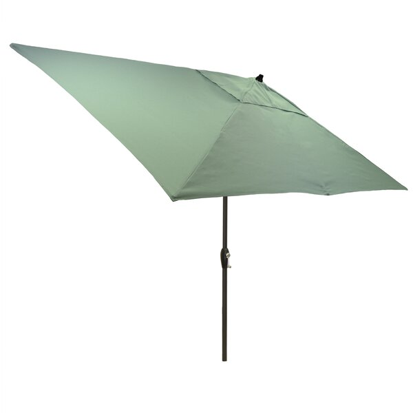 Solid 6.5' x 10' Rectangular Market Umbrella by Modern Rustic Interiors
