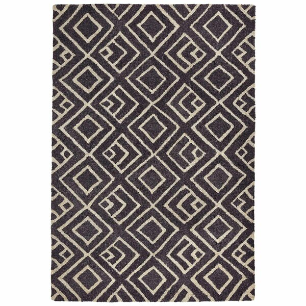 Chamness Hand-Tufted Charcoal/Beige Indoor/Outdoor Area Rug by Wrought Studio Wrought Studio