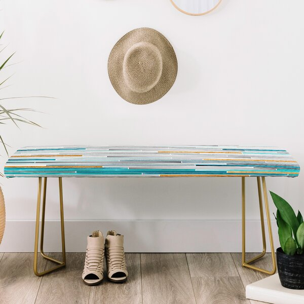 Iveta Abolina Faux Leather bench by East Urban Home